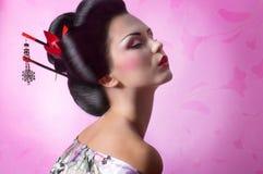 Japanese Geisha woman Royalty Free Stock Images