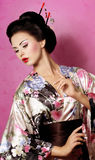 Japanese Geisha woman. Portrait of a Japanese Geisha woman Royalty Free Stock Image