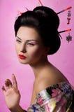 Japanese geisha woman Royalty Free Stock Image