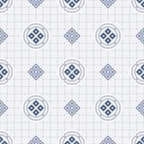 Japanese geometric seamless pattern Royalty Free Stock Photo