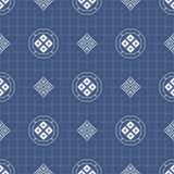 Japanese geometric seamless pattern Stock Photos