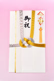 Japanese gift envelope. Royalty Free Stock Image