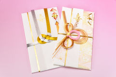 Japanese gift envelope. Royalty Free Stock Photography