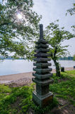 Japanese gift. Japanese pagoda memorial given to the people of the United States by the Japanese government in 1957 Stock Photo