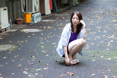 Japanese girl. It took a picture of a Japanese woman Royalty Free Stock Photo