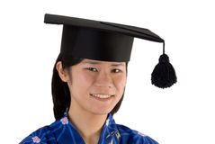 Japanese girl. Japanese woman with potdoc hat Stock Photography