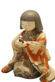 A japanese girl doll. Playing her toy Stock Images