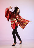 Japanese girl in a dress Stock Photos