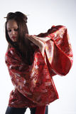 Japanese girl in a dress Stock Image