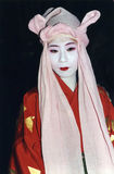 Japanese girl dressed in costume and makeup Royalty Free Stock Images