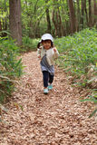 Japanese girl on a hike Royalty Free Stock Images