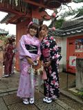 Japanese girl in Japanese costume Royalty Free Stock Photo