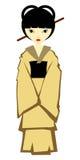 Japanese girl in kimono Royalty Free Stock Images