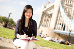 Japanese girl in London Stock Image