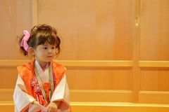 Japanese girl on Seven-Five-Three festival Stock Photography