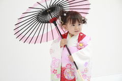Japanese girl on Seven-Five-Three festival Stock Image
