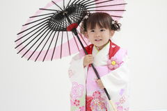 Japanese girl on Seven-Five-Three festival Royalty Free Stock Photos