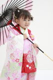 Japanese girl on Seven-Five-Three festival Stock Images
