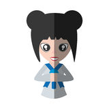 Japanese girl student uniform shadow Royalty Free Stock Images
