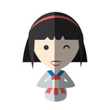 Japanese girl student uniform shadow Royalty Free Stock Photography
