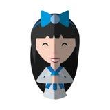 Japanese girl student uniform shadow Royalty Free Stock Photos