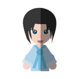 Japanese girl student uniform shadow Stock Photos