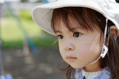 Japanese girl on the swing Stock Photo