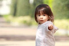 Japanese girl taking a walk Stock Images