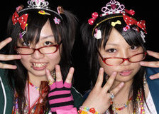 Japanese girls pose in Cosplay outfit in Tokyo Royalty Free Stock Images