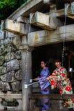 Japanese Girls in traditional Kimono Royalty Free Stock Photo