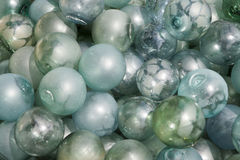 Japanese glass floats. Japanese floating glass balls used to float drift nets in the oceans and waters of the world Stock Image