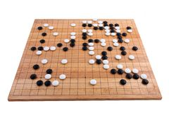 Japanese go board in white backgound Stock Photography