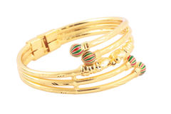 Japanese gold bracelet Stock Photo
