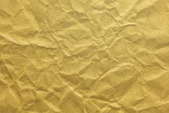 Japanese gold crumpled paper texture or vintage background. Japanese gold crumpled paper texture or grunge vintage background Stock Image