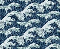 Free Japanese Great Wave Seamless Pattern Background Royalty Free Stock Photography - 136072687