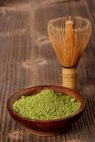 Japanese green powder tea Royalty Free Stock Photography