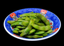 Japanese green Soy beans, edamame nibbles Stock Photography