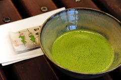 Japanese green tea. A very traditional green tea in japanese with sweet Stock Photo