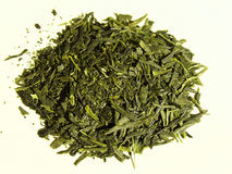 Japanese Green Tea. Detailed view of Japanese Gyokuro, an expensive green tea from Japan Stock Photo