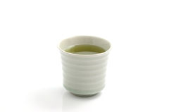 Japanese green tea. In white background Stock Photo