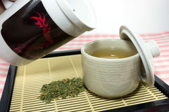 Japanese green tea Stock Images