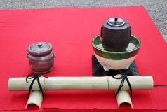 Japanese green tea ceremony Royalty Free Stock Image