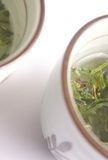 Japanese green tea cups Stock Photos