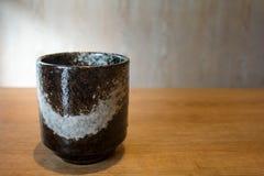 Japanese green tea matcha Art Mug. With copy space royalty free stock photo