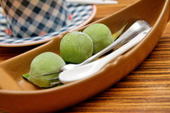 Japanese green tea mochi Royalty Free Stock Photos