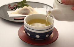 Japanese Green Tea Royalty Free Stock Photos