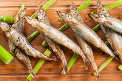 Japanese grilled capelin Royalty Free Stock Photo