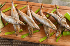 Japanese grilled capelin Royalty Free Stock Photography