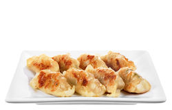 Japanese gyoza dish isolated Stock Photos