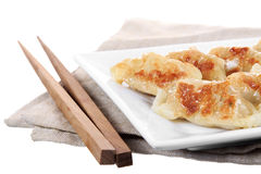 Japanese gyoza dish isolated Stock Images